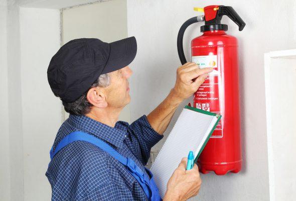 Aufkleber für Feuerlöscher